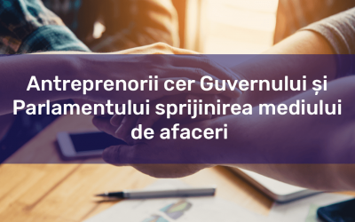 Petiție – Antreprenorii cer Guvernului și Parlamentului sprijinirea mediului de afaceri